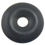 Wisiorek z turkusem, Turkus syntetyczny, Płaskie koło, czarny, 29x29x5.50mm, otwór:około 7mm, 50komputery/wiele, sprzedane przez wiele