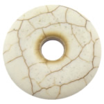 Turquoise Pendant, Flat Round, beige, 29x29x5mm, Hole:Approx 7mm, 50PCs/Lot, Sold By Lot