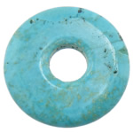 Turquoise Pendant, Flat Round, turquoise blue, 35x35x5.50mm, Hole:Approx 9mm, 30PCs/Lot, Sold By Lot