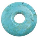 Wisiorek z turkusem, Turkus syntetyczny, Płaskie koło, turkusowo niebieski, 35x35x5.50mm, otwór:około 9mm, 30komputery/wiele, sprzedane przez wiele