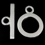 Srebro 925 Zapięcie kołek, Pączek, jednopasmowe, 21.8x2.5x1.3mm, 14.8x14.8x1.2mm, otwór:około 3mm, 5zestawy/wiele, sprzedane przez wiele