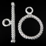 Srebro 925 Zapięcie kołek, Pączek, jednopasmowe, 18.5x1.5mm, 11x11x1.6mm, otwór:około 1.8, 2mm, 10zestawy/wiele, sprzedane przez wiele