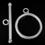 Srebro 925 Zapięcie kołek, Pączek, jednopasmowe, 22x2.5mm,14x14x2.2mm, otwór:około 2mm, 5zestawy/wiele, sprzedane przez wiele