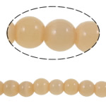 Cats Eye Jewelry Beads, Round, apricot, 6mm, Hole:Approx 0.8mm, Length:Approx 14.1 Inch, 10Strands/Bag, Approx 59PCs/Strand, Sold By Bag