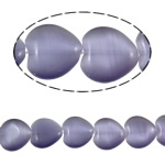 Cats Eye Jewelry Beads Hart purper 16x16x5.50mm Gat:Ca 1.5mm Ca 23pC's/Strand Per verkocht Ca 14.6 inch Strand