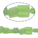 Cats Eye Jewelry Beads Nuggets groen 3-6mm Gat:Ca 1mm Ca 140pC's/Strand Per verkocht Ca 33.1 inch Strand