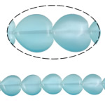 Cats Eye Jewelry Beads, Heart, light blue, 20x20x6mm, Hole:Approx 1.5mm, Approx 19PCs/Strand, Sold Per Approx 15.0 Inch Strand