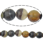 Natural Lace Agate Beads, Round, different size for choice & faceted & stripe, Hole:Approx 2mm, Length:Approx 15 Inch, Sold By Lot