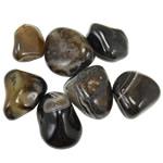 Natural Gemstone Pendant Component , Black Agate, 30-50mm, Sold By KG