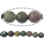 Natural Indian Agate Beads, Round, machine faceted, 6mm, Hole:Approx 1.5mm, Length:Approx 15 Inch, 10Strands/Lot, Approx 63PCs/Strand, Sold By Lot