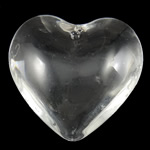 Imitation CRYSTALLIZED™ Element Crystal Beads, Heart, translucent, Crystal, 42.50x42x15.50mm, Hole:Approx 2mm, 10PCs/Bag, Sold By Bag