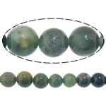 Agate Beads, Moss Agate, Round, 10mm, Hole:Approx 1mm, Length:Approx 15.5 Inch, 10Strands/Lot, Approx 39PCs/Strand, Sold By Lot