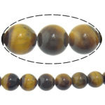 Natural Tiger Eye Beads, Round, 10mm, Hole:Approx 1mm, Length:Approx 15 Inch, 5Strands/Lot, Approx 37PCs/Strand, Sold By Lot