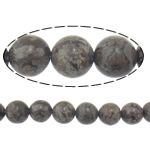 Natural Snowflake Obsidian Beads, Round, 10mm, Hole:Approx 2mm, Length:Approx 15 Inch, 20Strands/Lot, Approx 37PCs/Strand, Sold By Lot