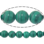 Natural Malachite Beads, Round, 8mm, Hole:Approx 1mm, Length:Approx 15 Inch, 10Strands/Lot, Approx 46PCs/Strand, Sold By Lot