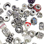 Zinc Alloy Jewelry Beads plated mixed nickel lead   cadmium free 9-16mm Hole:Approx approx 3-5mm Approx 50PCs/Bag