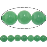 Natural Aventurine Beads, Green Aventurine, Round, 14mm, Hole:Approx 1.2-1.4mm, Length:Approx 15.8 Inch, 5Strands/Lot, Approx 27PCs/Strand, Sold By Lot