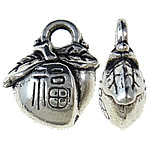 Zinc Alloy Pendants, antique silver color plated, nickel, lead & cadmium free, 11x10x5mm, Hole:Approx 2mm, 910PCs/KG, Sold By KG