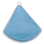 Resin Pendant, with Zinc Alloy, Triangle, 80x69x13mm, Hole:Approx 5mm, 10PCs/Bag, Sold By Bag