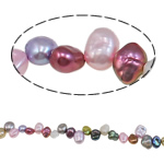 Reborn Cultured Freshwater Pearl Beads, mixed colors, 6-8mm, Hole:Approx 0.8mm, Sold Per 15.7 Inch Strand