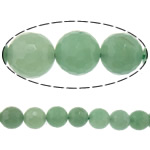 Natural Aventurine Beads, Green Aventurine, Round, machine faceted, 10mm, Hole:Approx 2mm, Length:Approx 15 Inch, 10Strands/Lot, Approx 37PCs/Strand, Sold By Lot