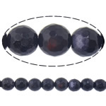 Natural Blue Goldstone Beads, Round, machine faceted, 6mm, Hole:Approx 0.8mm, Length:Approx 15 Inch, 10Strands/Lot, Approx 64PCs/Strand, Sold By Lot