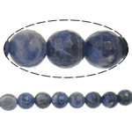 Natural Sodalite Beads, Round, machine faceted, 20mm, Hole:Approx 1.5mm, Length:Approx 15 Inch, 3Strands/Lot, Approx 19PCs/Strand, Sold By Lot