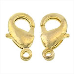 Brass Lobster Clasp, gold color plated, nickel, lead & cadmium free, 6x12x3mm, Hole:Approx 1.2mm, 500PCs/Bag, Sold By Bag