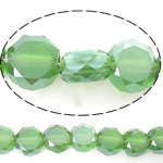Imitation CRYSTALLIZED™ Element Crystal Beads, Flat Round, imitation CRYSTALLIZED™ crystal & machine faceted, Peridot, 6x6x3.50mm, Hole:Approx 1mm, Length:Approx 22 Inch, 5Strands/Lot, Sold By Lot
