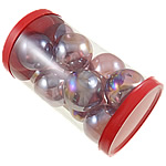 Fashion Decoration, Blown Lampwork Beads, Round, light purple, 38x33mm, 80x137mm, 12PCs/Box, Sold by Box