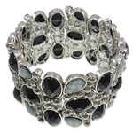 Zinc Alloy Bracelet, with Resin, with rhinestone, nickel, lead & cadmium free, 43mm, Sold Per 7.5 Inch Strand