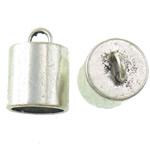Końcówka ze stopu cynku, Stop cynku, Platerowane kolorem starego srebra, bez zawartości niklu, ołowiu i kadmu, 16.50x22.50mm, otwór:około 4.5mm, średnica wewnętrzna:około 13.8mm, około 133komputery/KG, sprzedane przez KG