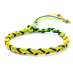 Friendship Bracelet, velveteen, braided style, 6mm, Length:8.5 Inch, 3PCs/Bag, Sold by Bag