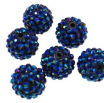 Resin Rhinestone Beads, 16x18mm, Hole:Approx 2.5mm, 100PCs/Bag, Sold by Bag