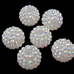 Resin Rhinestone Beads, 16x18mm, Hole:Approx 2.5mm, 100PC/Bag, Sold by Bag
