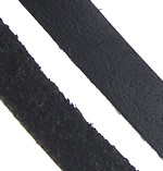 Cowhide, black, 5mm, Length:Approx 100 m, Sold By Lot