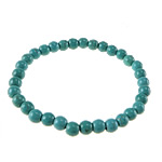 Fashion Turquoise Bracelets, Round, blue, 8mm, Length:Approx 7 Inch, 50Strands/Lot, Sold By Lot