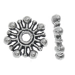 Zinc Alloy Spacer Beads, Flower, antique silver color plated, nickel, lead & cadmium free, 10x2mm, Hole:Approx 2mm, Approx 2500PCs/KG, Sold By KG