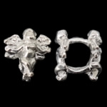 925 Sterling Silver European Beads, Angel, without troll, 10x9.50x8.50mm, Hole:Approx 4.5mm, 10PCs/Bag, Sold By Bag