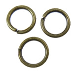 Iron Closed Jump Ring, 6x0.8mm, Hole:Approx 4.5mm, 20000PCs/KG, Sold by KG