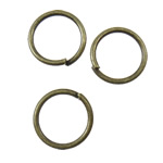 Iron Closed Jump Ring, 8x0.8mm, Hole:Approx 6.5mm, 12500PCs/KG, Sold by KG