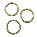 Iron Closed Jump Ring, 0.9x8mm, Hole:Approx 6mm, approx 8770PCs/KG, Sold by KG
