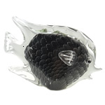 Lampwork Decoration, Fish, handmade, black, 235x144x75mm, Sold by PC
