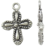 Zinc Alloy Cross Pendants, antique silver color plated, nickel, lead & cadmium free, 14x20x3mm, Hole:Approx 2mm, Approx 1000PCs/KG, Sold By KG