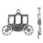 Zinc Alloy Pendant Rhinestone Setting antique silver color plated nickel lead   cadmium free 30x27x3mm Hole:Approx 2mm Inner Diameter:Approx 1mm Approx 250PCs/KG
