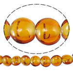 Plated Lampwork Beads, Flat Round, orange, 16x8.5mm, Hole:Approx 1.5-2.5mm, Length:Approx 14.5 Inch, 4Strands/Bag, Sold By Bag