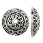 Zinc Alloy Bead Cap, antique silver color plated, nickel, lead & cadmium free, 14.20x14.20x4mm, Hole:Approx 1.5mm, Approx 1000PCs/KG, Sold By KG