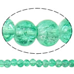 Crackle Glass Beads, Round, green, 4mm, Hole:Approx 1mm, Length:Approx 30 Inch, 10Strands/Bag, Sold By Bag