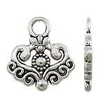 Zinc Alloy Pendants, antique silver color plated, nickel, lead & cadmium free, 18x20x2mm, Hole:Approx 3mm, Approx 617PCs/KG, Sold By KG