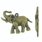 Zinc Alloy Pendant Rhinestone Setting, Elephant, antique bronze color plated, nickel, lead & cadmium free, 39x29x4.50mm, Hole:Approx 2mm, Inner Diameter:Approx 1mm, Approx 166PCs/KG, Sold By KG